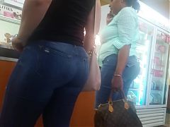 Mature Latina In Thick Jeans
